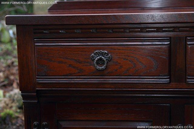 Image 22 of OLD CHARM TUDOR OAK SIDEBOARD DRESSER BASE CABINET TABLE