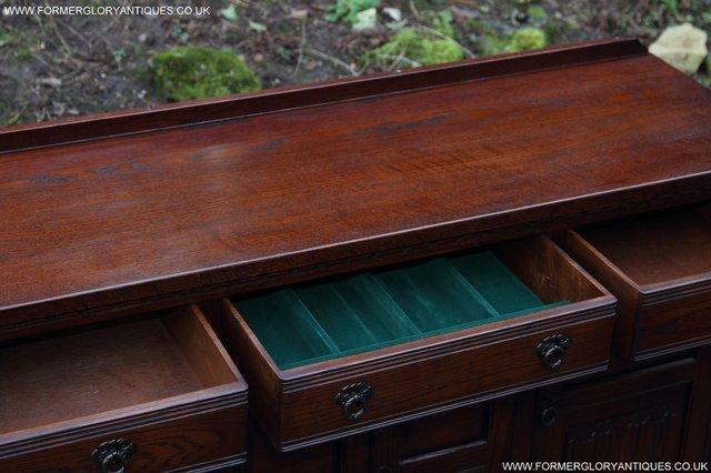 Image 23 of OLD CHARM TUDOR OAK SIDEBOARD DRESSER BASE CABINET TABLE