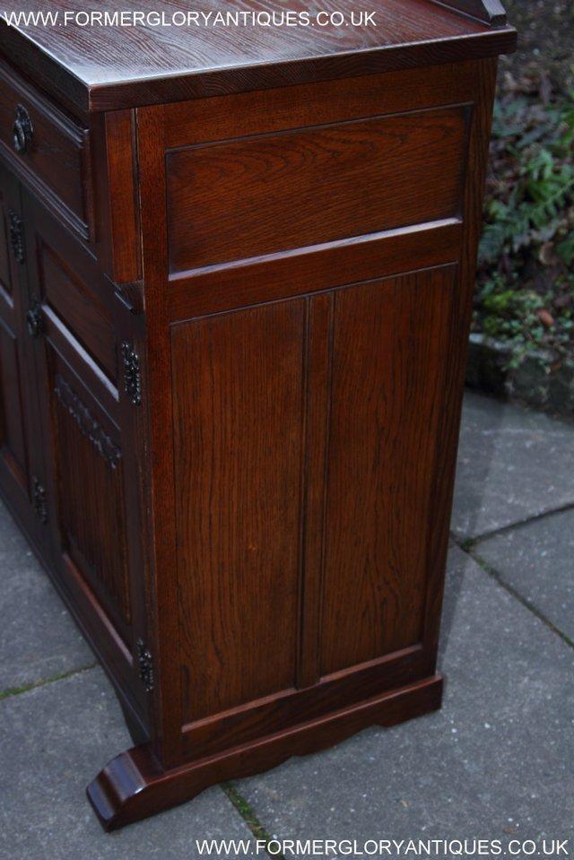 Image 24 of OLD CHARM TUDOR OAK SIDEBOARD DRESSER BASE CABINET TABLE