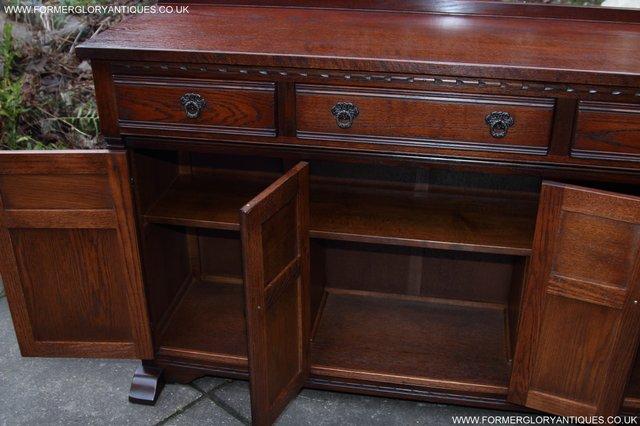 Image 26 of OLD CHARM TUDOR OAK SIDEBOARD DRESSER BASE CABINET TABLE