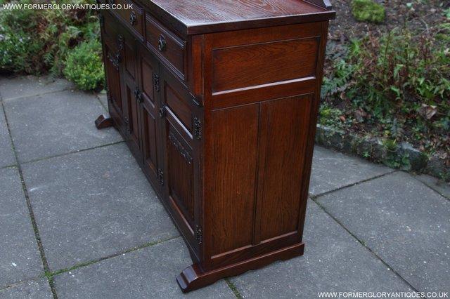 Image 27 of OLD CHARM TUDOR OAK SIDEBOARD DRESSER BASE CABINET TABLE