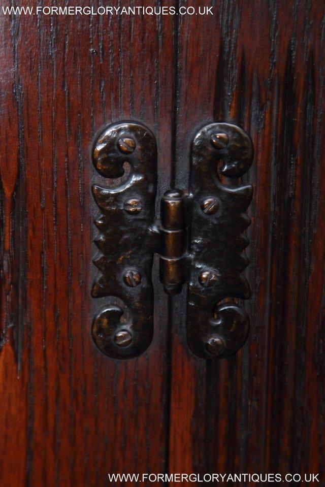 Image 28 of OLD CHARM TUDOR OAK SIDEBOARD DRESSER BASE CABINET TABLE