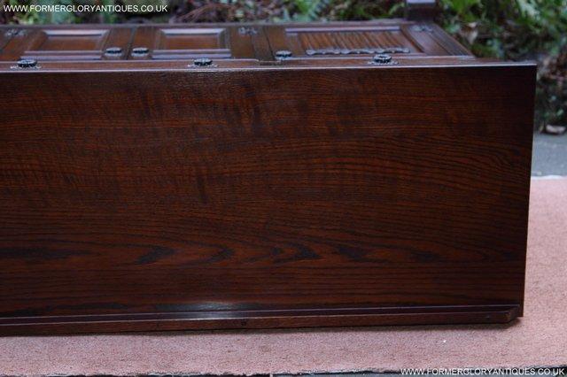 Image 29 of OLD CHARM TUDOR OAK SIDEBOARD DRESSER BASE CABINET TABLE