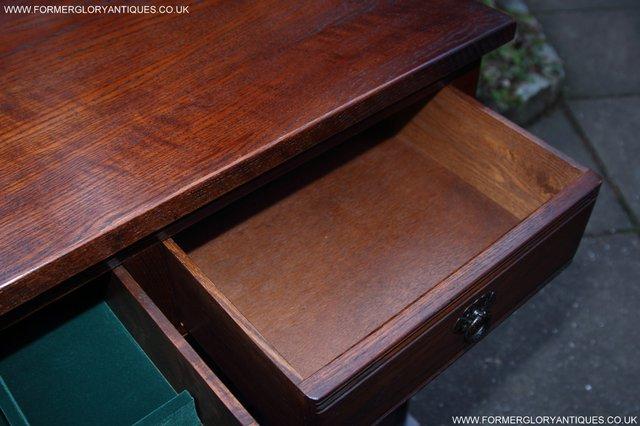 Image 31 of OLD CHARM TUDOR OAK SIDEBOARD DRESSER BASE CABINET TABLE