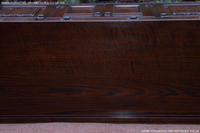 Image 32 of OLD CHARM TUDOR OAK SIDEBOARD DRESSER BASE CABINET TABLE
