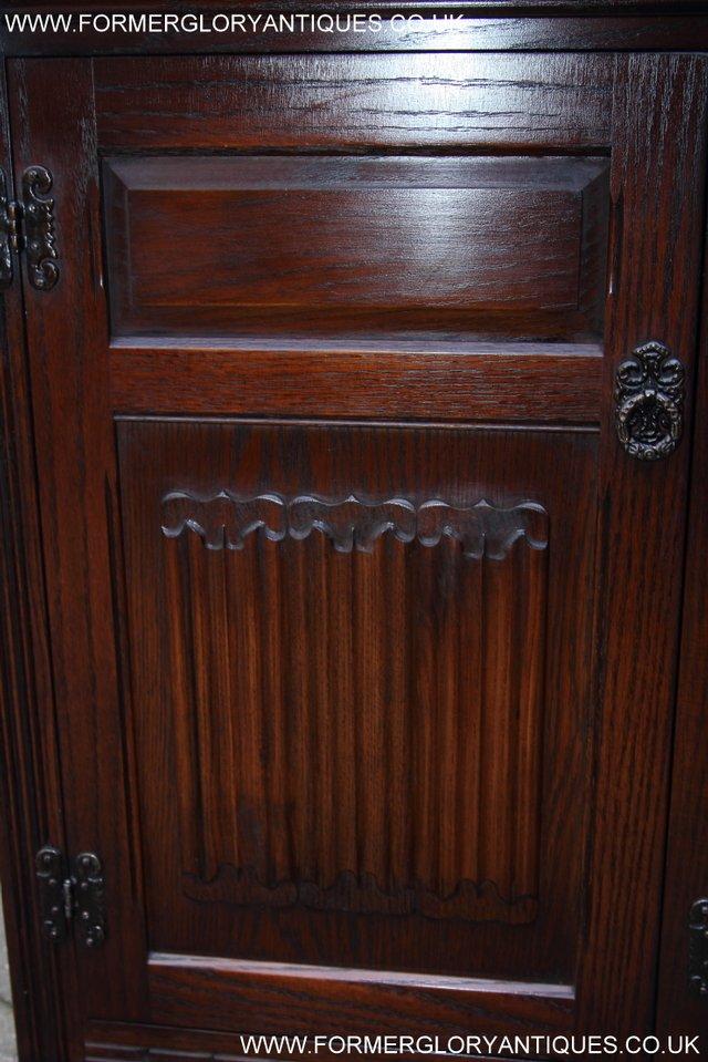 Image 39 of OLD CHARM TUDOR OAK SIDEBOARD DRESSER BASE CABINET TABLE