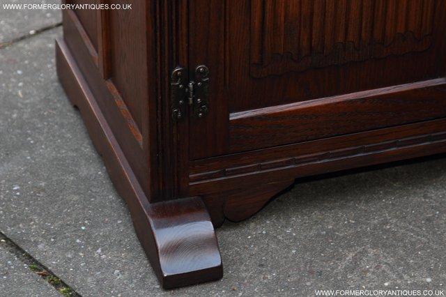 Image 42 of OLD CHARM TUDOR OAK SIDEBOARD DRESSER BASE CABINET TABLE