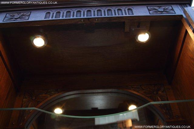 Image 9 of OLD CHARM OAK DRINKS COCKTAIL WINE DISPLAY CABINET SIDEBOARD