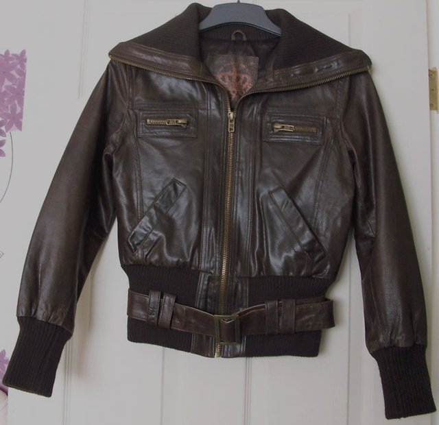 New Look Leather Jacket Second Hand Women S Clothing Buy And Sell