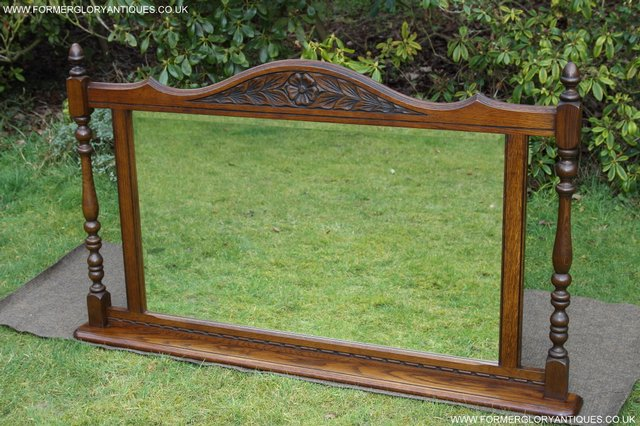 Preview of the first image of OLD CHARM OAK FIRE SURROUND SIDEBOARD HALL TABLE MIRROR.