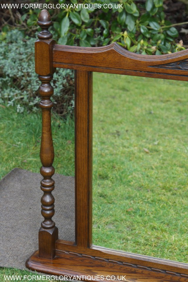 Image 6 of OLD CHARM OAK FIRE SURROUND SIDEBOARD HALL TABLE MIRROR