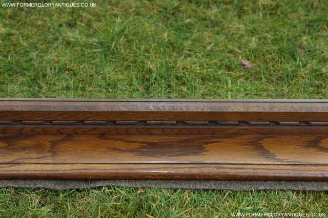 Image 10 of OLD CHARM OAK FIRE SURROUND SIDEBOARD HALL TABLE MIRROR