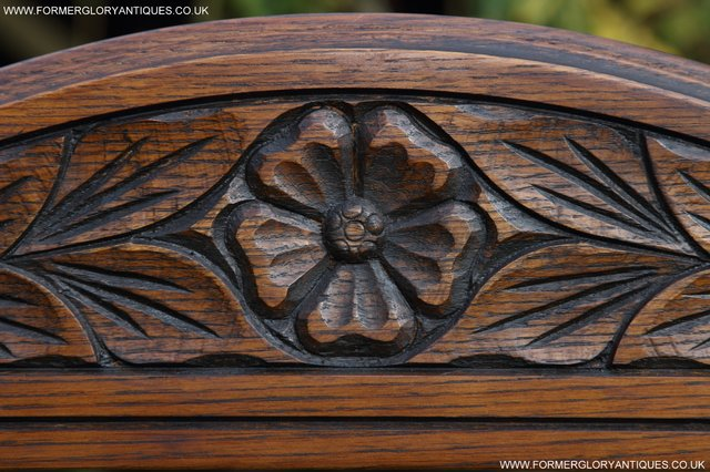 Image 13 of OLD CHARM OAK FIRE SURROUND SIDEBOARD HALL TABLE MIRROR