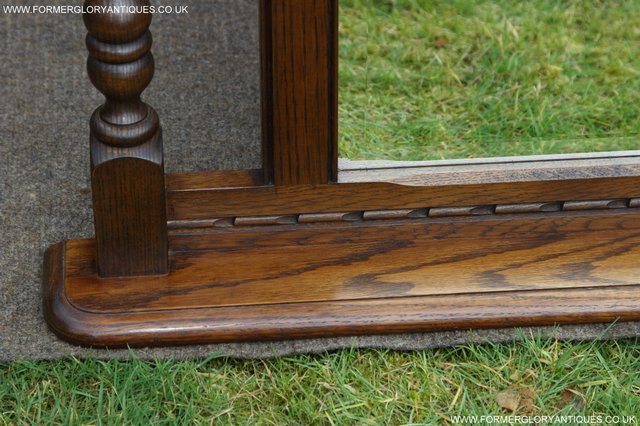 Image 14 of OLD CHARM OAK FIRE SURROUND SIDEBOARD HALL TABLE MIRROR
