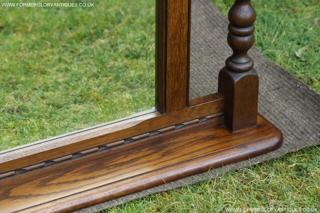 Image 15 of OLD CHARM OAK FIRE SURROUND SIDEBOARD HALL TABLE MIRROR