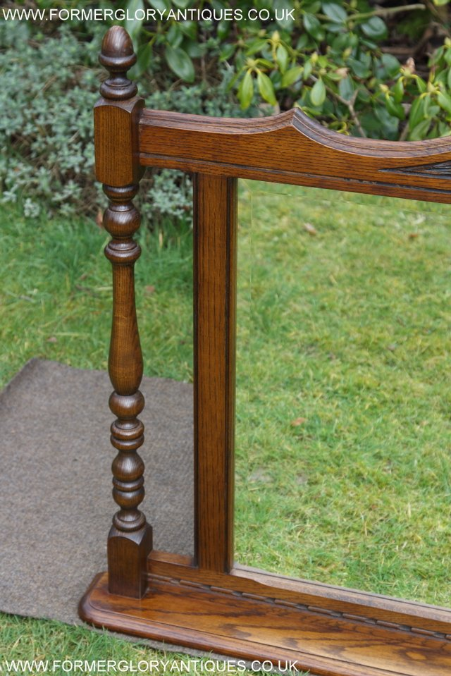 Image 20 of OLD CHARM OAK FIRE SURROUND SIDEBOARD HALL TABLE MIRROR