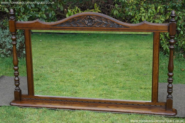 Image 22 of OLD CHARM OAK FIRE SURROUND SIDEBOARD HALL TABLE MIRROR