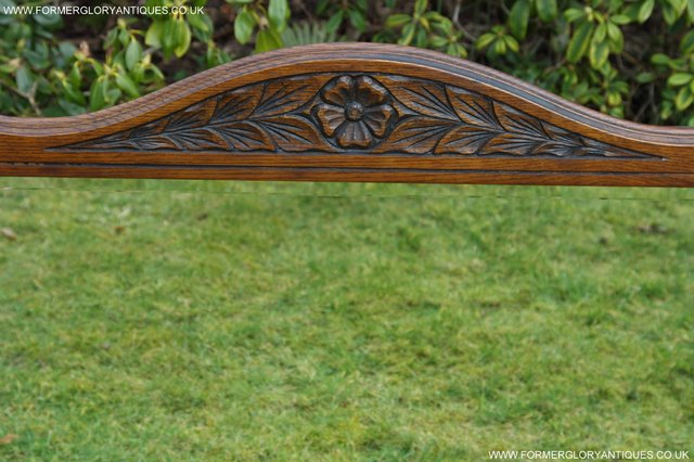 Image 23 of OLD CHARM OAK FIRE SURROUND SIDEBOARD HALL TABLE MIRROR