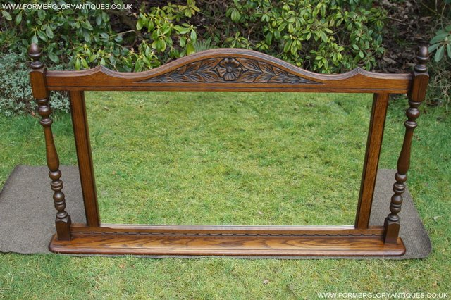 Image 25 of OLD CHARM OAK FIRE SURROUND SIDEBOARD HALL TABLE MIRROR