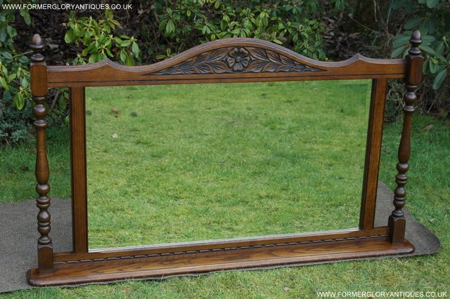 Image 26 of OLD CHARM OAK FIRE SURROUND SIDEBOARD HALL TABLE MIRROR