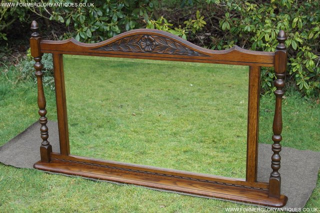 Image 27 of OLD CHARM OAK FIRE SURROUND SIDEBOARD HALL TABLE MIRROR