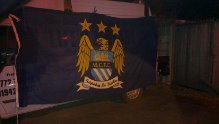 Preview of the first image of manchester city flag signed.