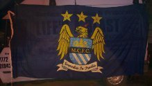 Image 3 of manchester city flag signed