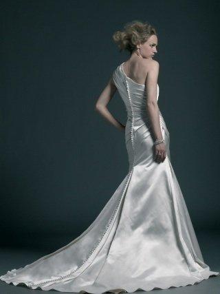 Image 3 of Stunning one shouldered Sincerity wedding dress