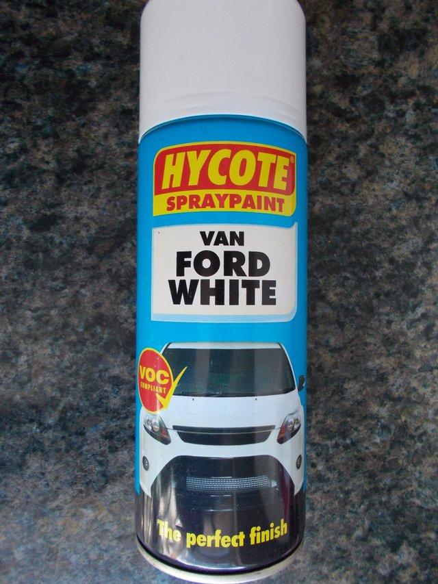 Image 2 of HYCOTE Ford Van Aerosol Spray Paint 400 ml - White