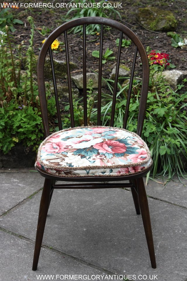 Preview of the first image of ERCOL WINDSOR OFFICE DESK BUREAU KITCHEN DINING TABLE CHAIR.