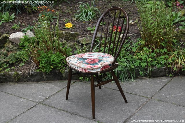 Image 4 of ERCOL WINDSOR OFFICE DESK BUREAU KITCHEN DINING TABLE CHAIR