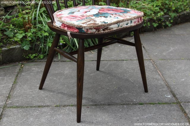 Image 8 of ERCOL WINDSOR OFFICE DESK BUREAU KITCHEN DINING TABLE CHAIR