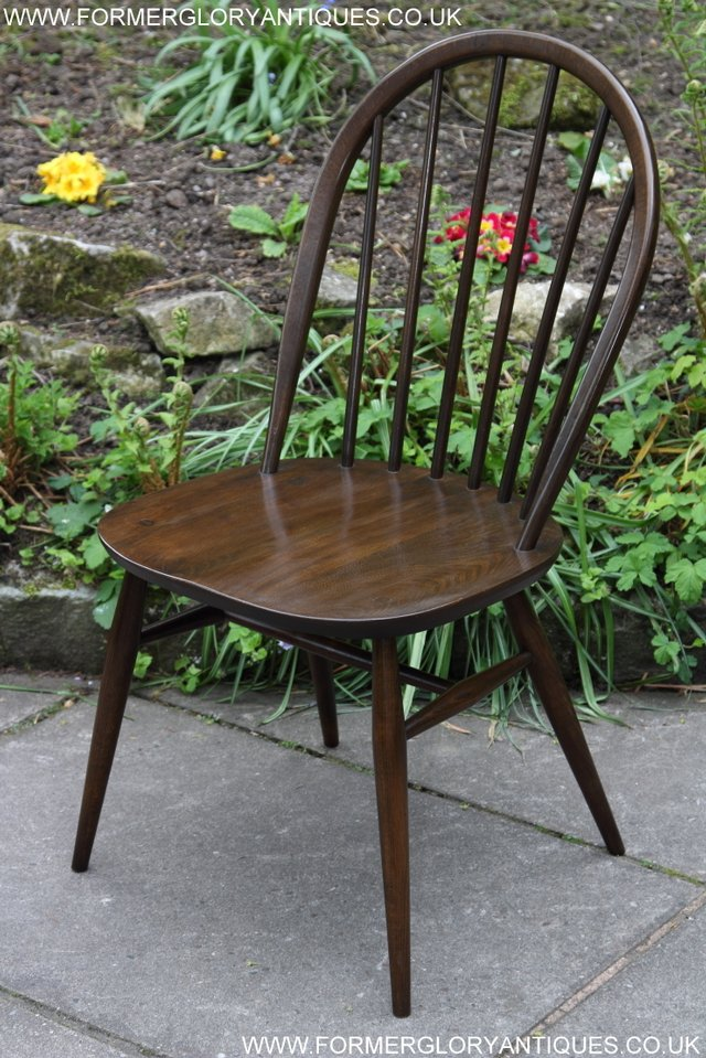 Image 11 of ERCOL WINDSOR OFFICE DESK BUREAU KITCHEN DINING TABLE CHAIR