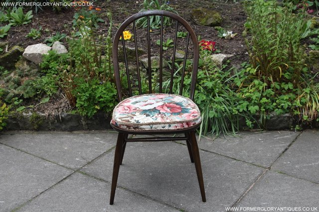 Image 12 of ERCOL WINDSOR OFFICE DESK BUREAU KITCHEN DINING TABLE CHAIR
