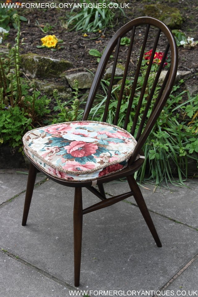 Image 13 of ERCOL WINDSOR OFFICE DESK BUREAU KITCHEN DINING TABLE CHAIR