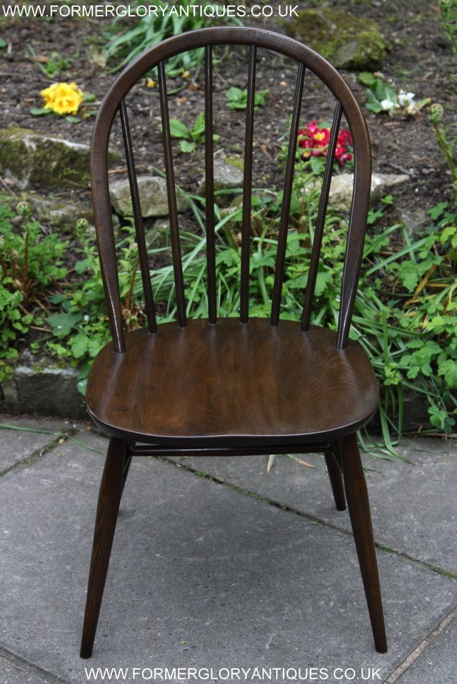 Image 14 of ERCOL WINDSOR OFFICE DESK BUREAU KITCHEN DINING TABLE CHAIR