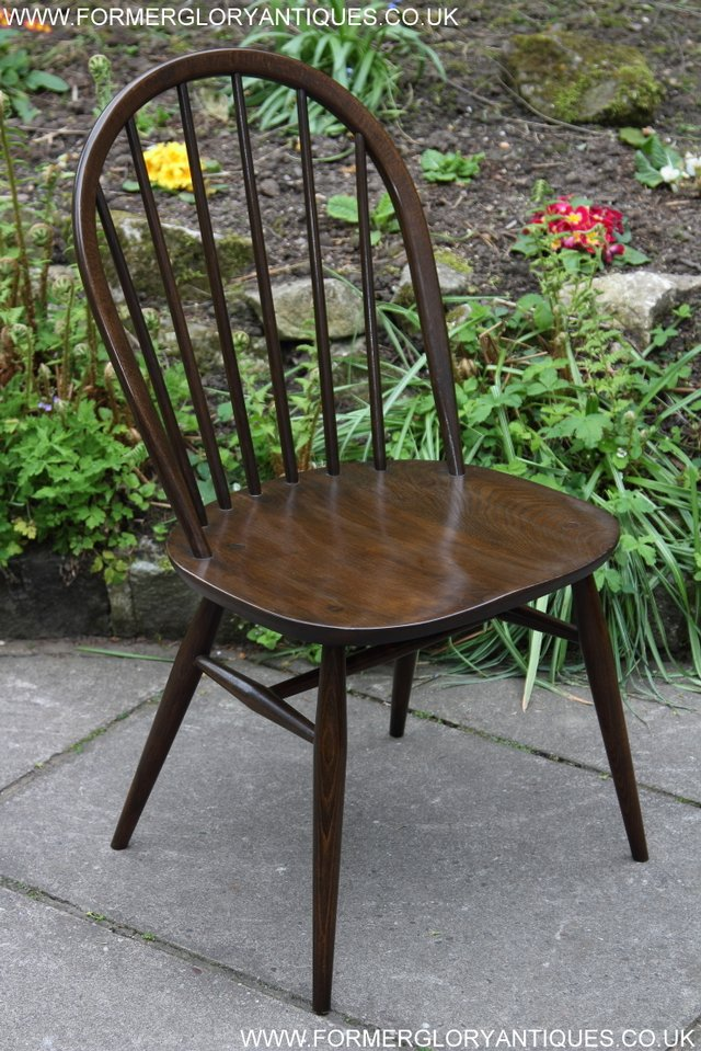 Image 15 of ERCOL WINDSOR OFFICE DESK BUREAU KITCHEN DINING TABLE CHAIR