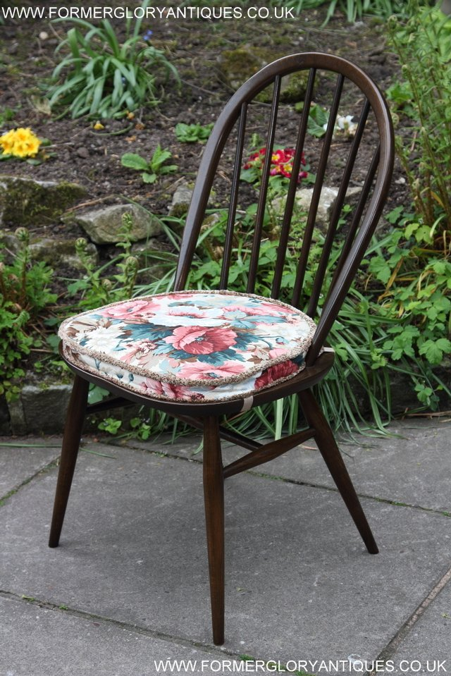 Image 19 of ERCOL WINDSOR OFFICE DESK BUREAU KITCHEN DINING TABLE CHAIR