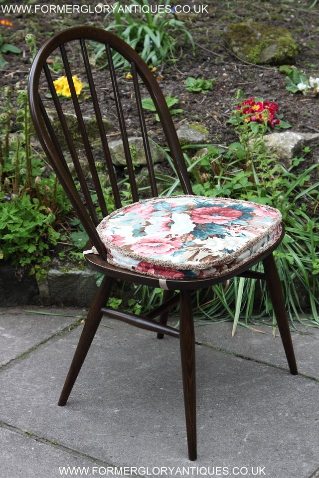 Image 21 of ERCOL WINDSOR OFFICE DESK BUREAU KITCHEN DINING TABLE CHAIR