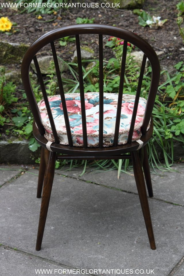 Image 23 of ERCOL WINDSOR OFFICE DESK BUREAU KITCHEN DINING TABLE CHAIR
