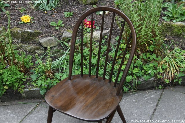 Image 24 of ERCOL WINDSOR OFFICE DESK BUREAU KITCHEN DINING TABLE CHAIR