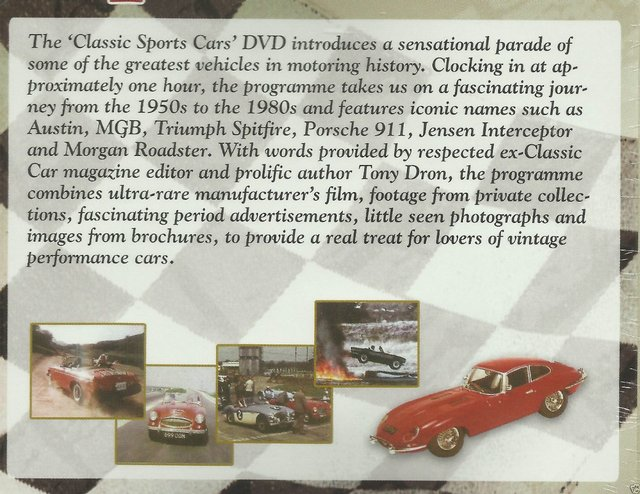 Image 4 of CLASSIC SPORTS CARS DVD. REGION 2-RUNNING TIME:53 MINS