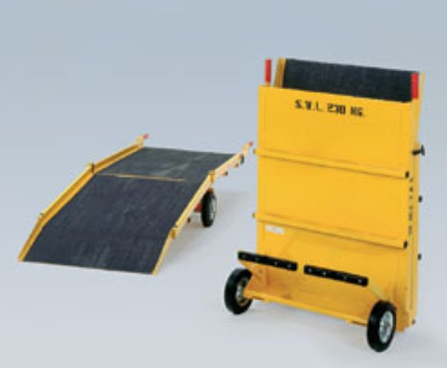Image 2 of portable mobile wheelchair and loading ramp WCR003 van shop