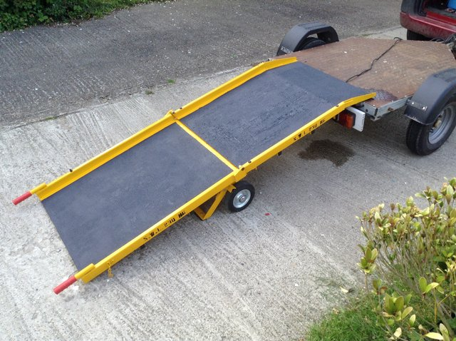 Preview of the first image of portable mobile wheelchair and loading ramp WCR003 van shop.