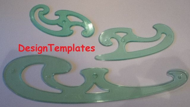 Image 2 of FRENCH CURVES - DRAWING / TEMPLATES / STENCILSSET QTY x 3