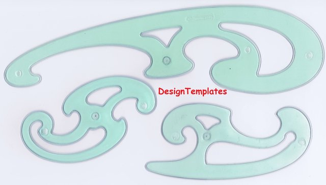 Image 3 of FRENCH CURVES - DRAWING / TEMPLATES / STENCILSSET QTY x 3