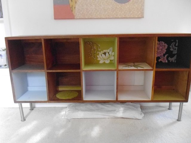 Image 1 of Vintage Upcycled Bookcase Display One Off