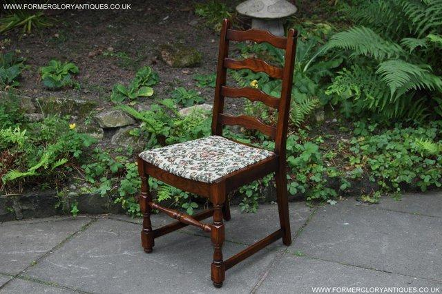 Image 7 of SIX OAK LADDER BACK OLD CHARM STYLE DINING CHAIRS ARMCHAIRS