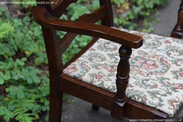 Image 11 of SIX OAK LADDER BACK OLD CHARM STYLE DINING CHAIRS ARMCHAIRS