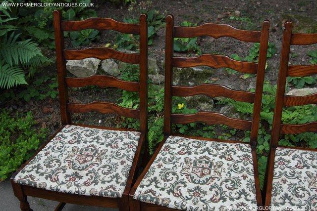 Image 19 of SIX OAK LADDER BACK OLD CHARM STYLE DINING CHAIRS ARMCHAIRS